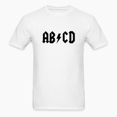 ABCD - AC/DC Style T-SHIRT