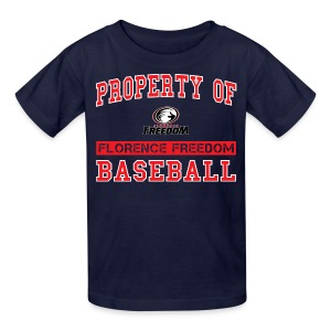Youth Property of Florence Freedom Baseball - Kids' T-Shirt