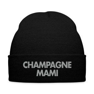 Champagne Mami Toque - Knit Cap with Cuff Print