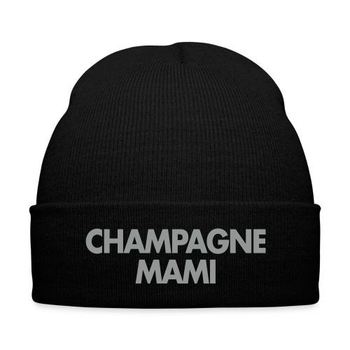 Champagne Mami Toque - Knit Cap with Cuff Print