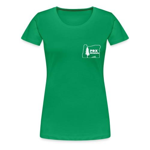Women's Premium PDXWildlife Logo & Motto Shirt - Women's Premium T-Shirt