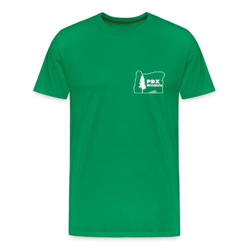 Men's Premium PDXWildlife Logo & Motto Shirt - Men's Premium T-Shirt