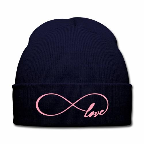 Love Knit Cap - Knit Cap with Cuff Print
