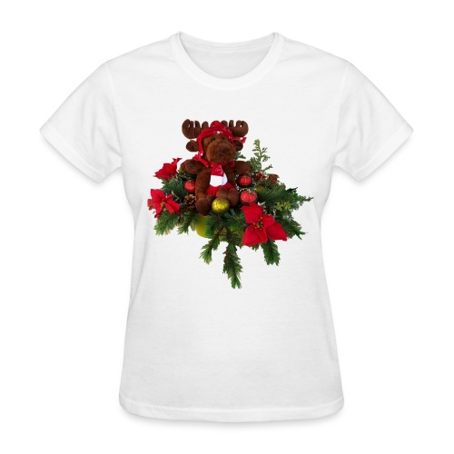 Ladies Moose Christmas - Women's T-Shirt