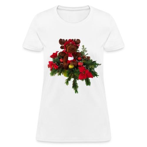 Ladies Moose Christmas - Women's T-Shirt