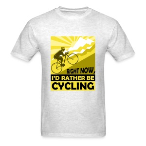 RATHER BE CYCLING - Men's T-Shirt