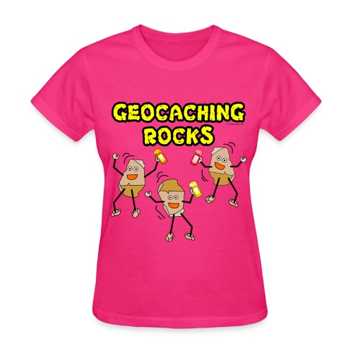Three Geocaching Rocks - Women's T-Shirt