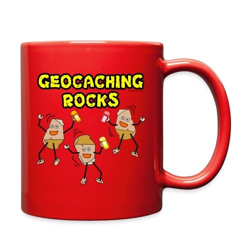 Three Geocaching Rocks - Full Color Mug