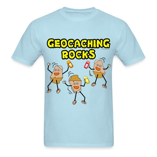 Three Geocaching Rocks - Men's T-Shirt