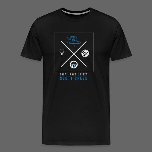 Golf, Race, Pizza - Speed Life - Men's Premium T-Shirt