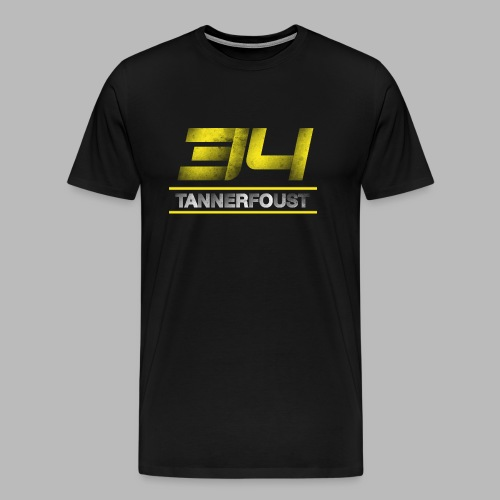 Tanner Foust 34 Distressed Tee - Yellow - Men's Premium T-Shirt