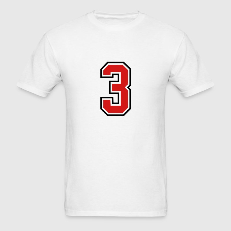 3955797 15268502 sports jersey number 3  T-SHIRT - Men's T-Shirt