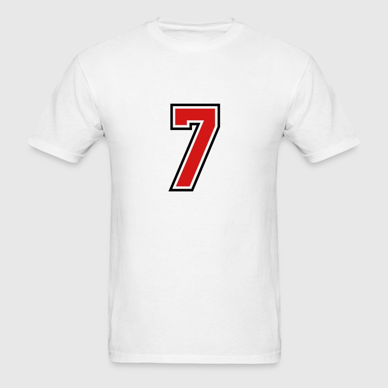 3955797 15268513 sports jersey number 7  T-SHIRT - Men's T-Shirt
