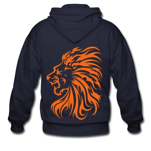 Flame Lion - Men's Zip Hoodie
