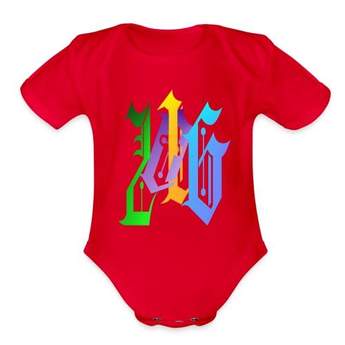 216-Fancy - Organic Short Sleeve Baby Bodysuit