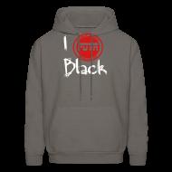 Hoodies ~ Men's Hoodie ~ i Love Black