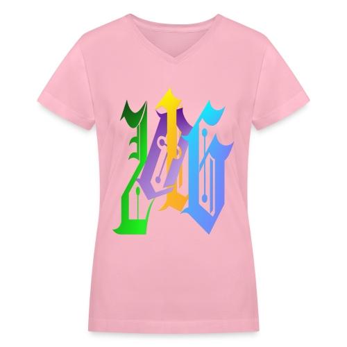 216-Fancy - Women's V-Neck T-Shirt