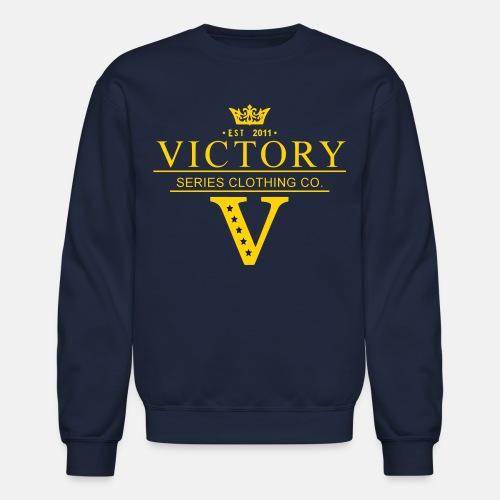 Men's Crowned Victor Crewneck - Navy - Crewneck Sweatshirt