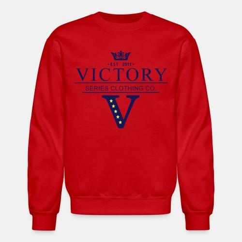 Men's Crowned Victor Crewneck - Red - Crewneck Sweatshirt