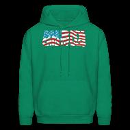Hoodies ~ Men's Hoodie ~ Merry Christmas USA! American Men's Freedom Hoodie