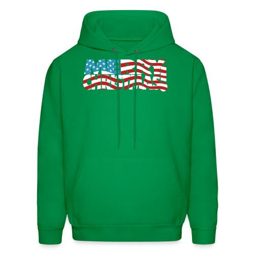 Merry Christmas USA! American Men's Freedom Hoodie - Men's Hoodie