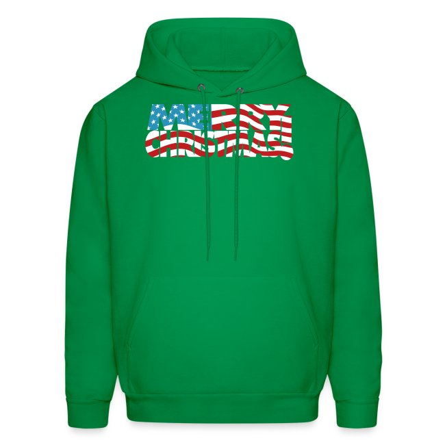 Merry Christmas USA! American Men's Freedom Hoodie