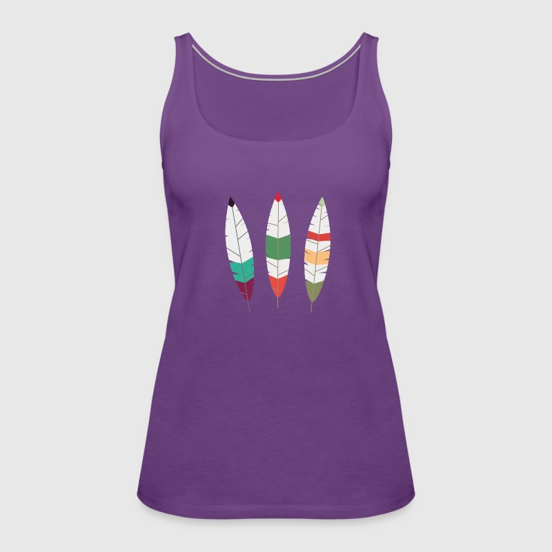Colorful feathers Tanks - Women's Premium Tank Top