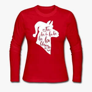 Fa La Llama - Women's Long Sleeve Jersey T-Shirt