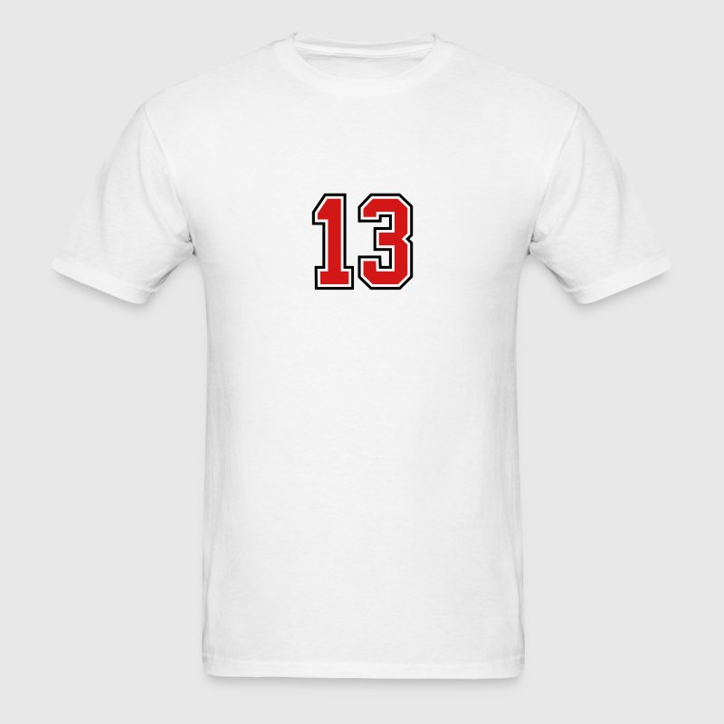 13 sports jersey football number T-SHIRT - Men's T-Shirt
