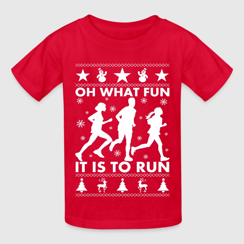 Oh What Fun To Run T Shirt Spreadshirt