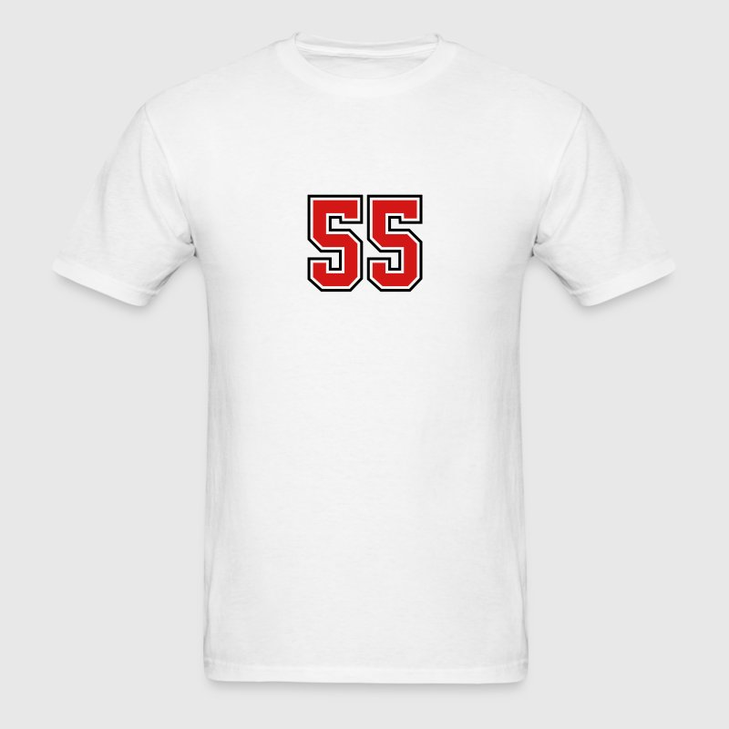 55 sports jersey football number T-SHIRT - Men's T-Shirt