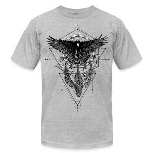 AD Crow T-Shirts - Men's T-Shirt by American Apparel