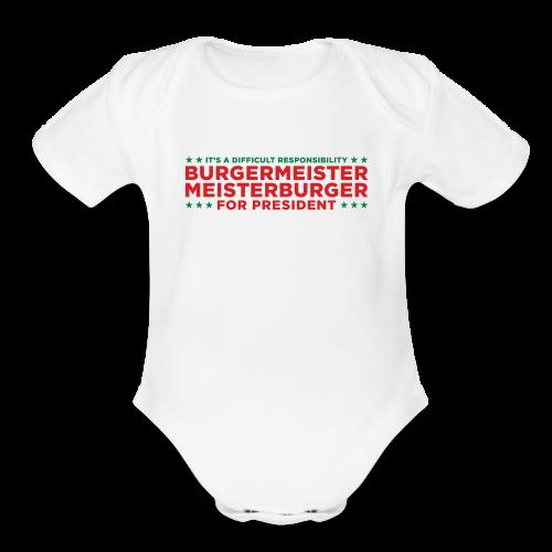 Burgermeister President - Organic Short Sleeve Baby Bodysuit