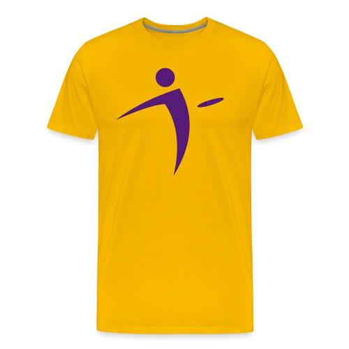Nano Disc Golf Purple on Gold Premium T-Shirt - Men's Premium T-Shirt