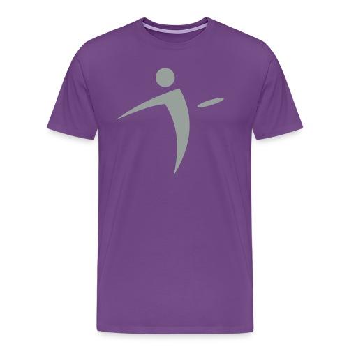Nano Disc Golf Gray on Purple Premium T-Shirt - Men's Premium T-Shirt
