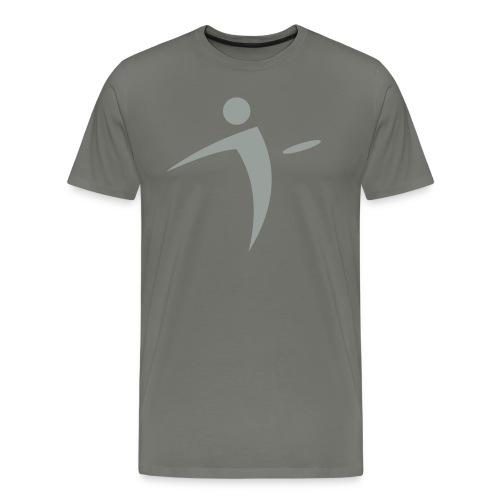 Nano Disc Golf Gray on Gray Premium T-Shirt - Men's Premium T-Shirt