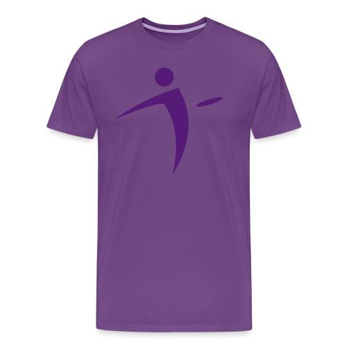Nano Disc Golf Purple on Purple Premium T-Shirt - Men's Premium T-Shirt