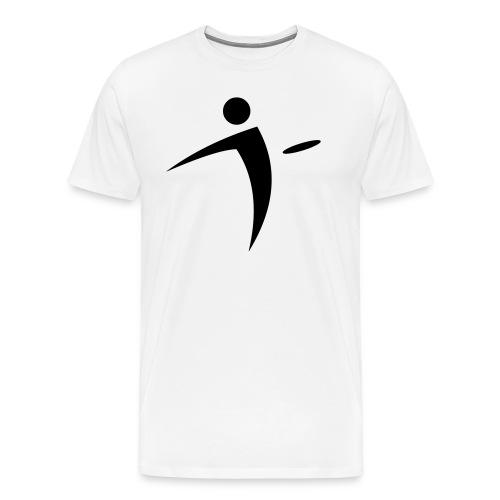 Nano Disc Golf Black on White Premium T-Shirt - Men's Premium T-Shirt