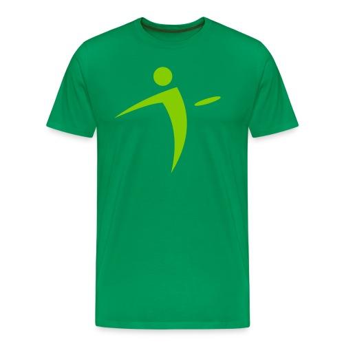 Nano Disc Golf Lime on Green Premium T-Shirt - Men's Premium T-Shirt