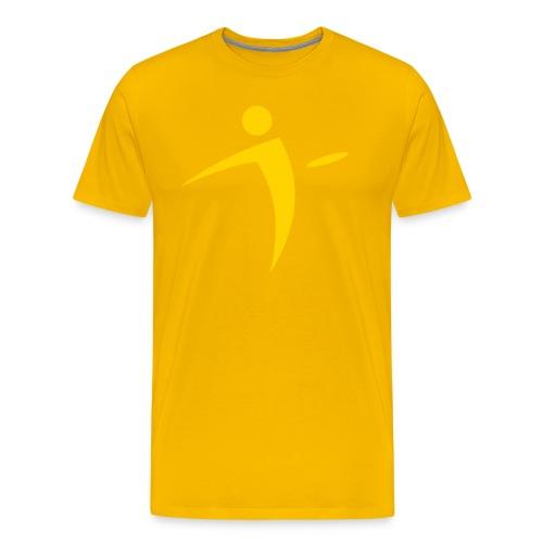 Nano Disc Golf Yellow on Gold Premium T-Shirt - Men's Premium T-Shirt