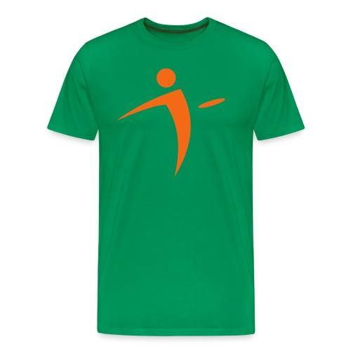 Nano Disc Golf Orange on Green Premium T-Shirt - Men's Premium T-Shirt
