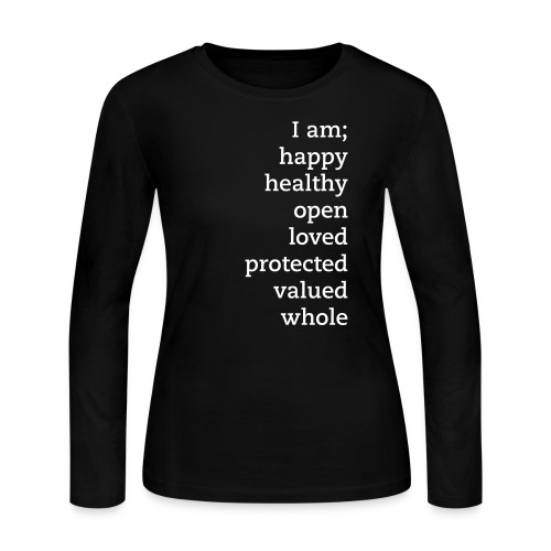I Am! Affirmation Long Sleeve tee - Women's Long Sleeve Jersey T-Shirt