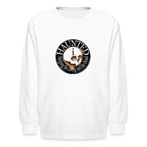 Hauntedi Long-sleeve Skull Logo for kids - Kids' Long Sleeve T-Shirt