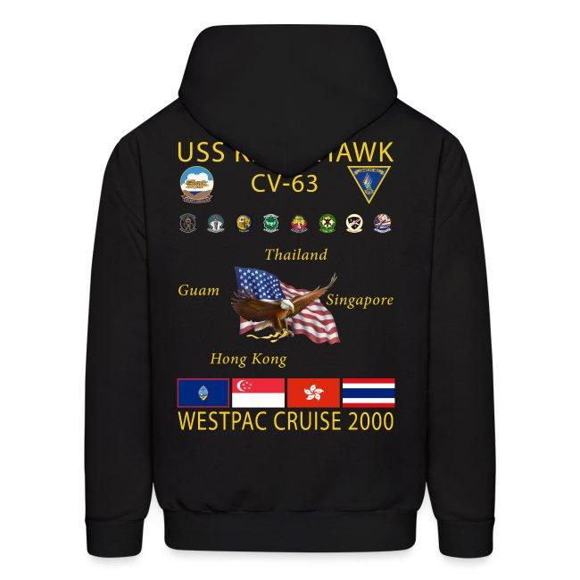 USS KITTY HAWK CV-63 2000 CRUISE HOODIE