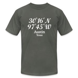 Austin, Texas Coordinates T-Shirt - Men's Fine Jersey T-Shirt