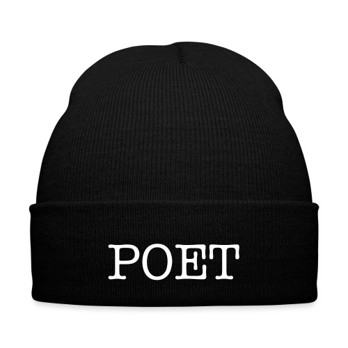 Poet Beanie - Knit Cap with Cuff Print