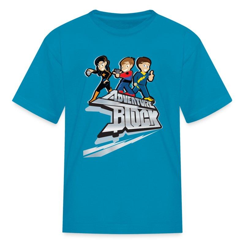 Adventure Block Kids T-Shirt - Kids' T-Shirt