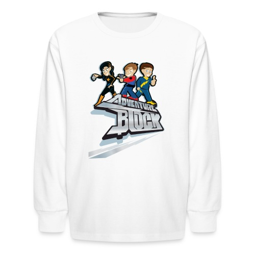 Adventure Block - Kids' Long Sleeve T-Shirt
