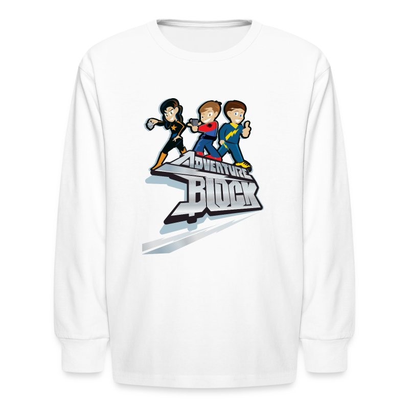 Adventure Block Kids Long Sleeve T-Shirt - Kids' Long Sleeve T-Shirt