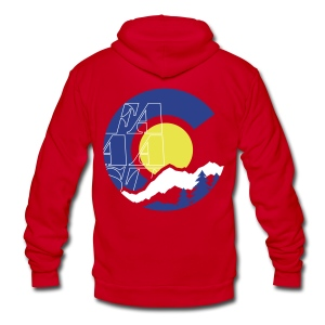 Colorado Outdoors - Unisex Fleece Zip Hoodie by American Apparel